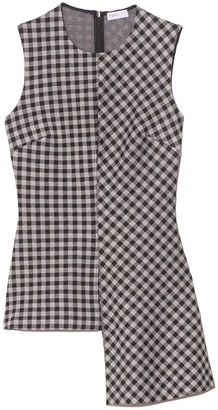 Rosetta Getty Gingham Fluted Top in Black/White