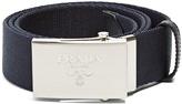 Prada Logo-engraved buckle canvas belt
