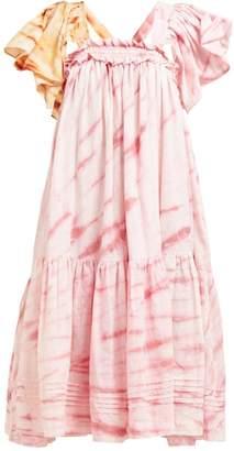 story. Mfg - Aida Tie Dye Organic Cotton Dress - Womens - Pink