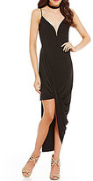 Mystic V-Neck Asymmetric Sheath Dress