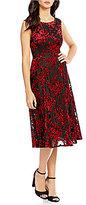 Betsey Johnson Midi Velvet Burnout Dress
