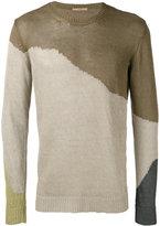 Roberto Collina colour block jumper - men - Linen/Flax - 52