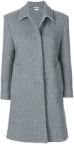 Thom Browne Unlined Bal Collar Overcoat In Boiled Wool