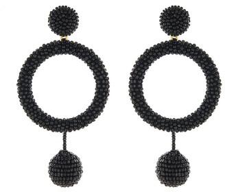 Oscar de la Renta Beaded Hoop Earrings