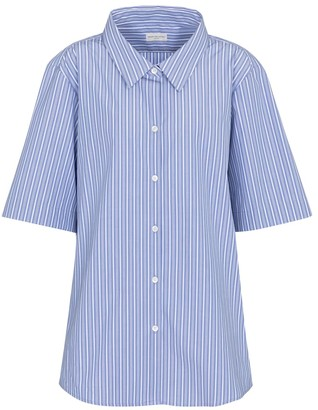 Dries Van Noten Pinstriped cotton poplin shirt