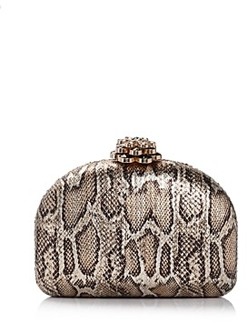 Sondra Roberts Metallic Python Dome Box Clutch