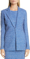 St. John Butterfly Ribbon Tweed Knit Jacket