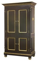 The Well Appointed House Black and Gold Armoire with Star Accents