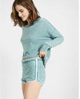 Express one eleven burnout shorts