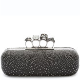 Alexander McQueen Studded Lambskin Leather Knuckle Clutch