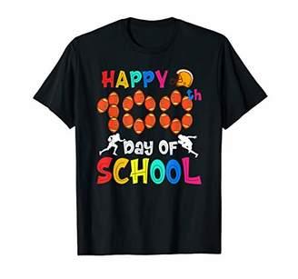 100 Days Of School Football Shirt For Kids Students Teachers T-Shirt