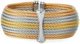Alor Stacked Cable Cuff w/ Diamond Hourglass, Tricolor