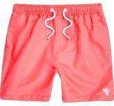 River Island Boys Orange print swim shorts