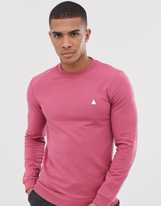 Asos Design DESIGN muscle sweatshirt in pink with triangle