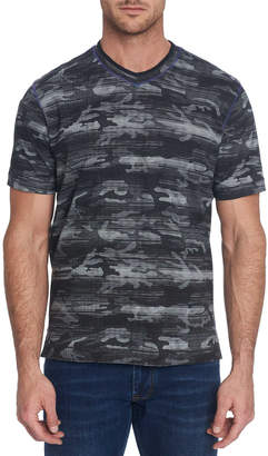 Robert Graham Men's Rhodes Camo-Pattern V-Neck T-Shirt