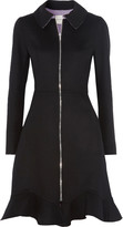 Mary Katrantzou Jade fluted wool and cashmere-blend coat