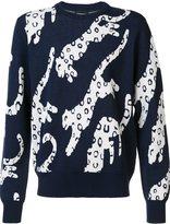 Christopher Raeburn snow leopard knit jumper