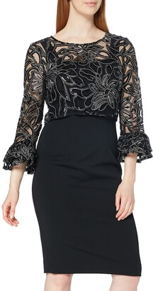 Gina Bacconi Women's Embroidered Overtop Dress Cocktail