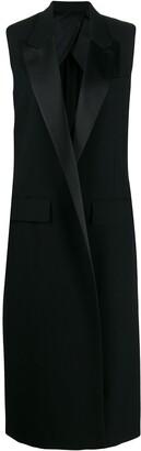 AMI Paris Sleeveless Long-Line Waistcoat