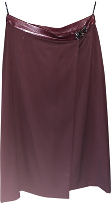 Hermes Burgundy Wool Skirts