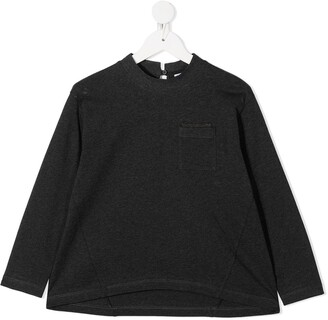 BRUNELLO CUCINELLI KIDS round neck long-sleeved T-shirt