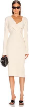Bottega Veneta Knit Midi Dress in Off White | FWRD