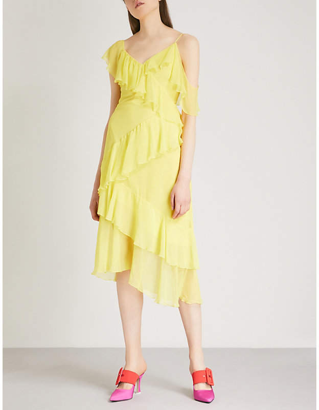 Alice + Olivia Alice & Olivia Olympia ruffled silk-chiffon dress