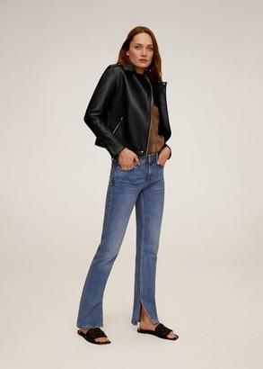 MANGO Zipped biker jacket black - XS - Women