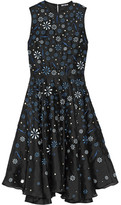Holly Fulton Ana Maria Embellished Silk Organza Dress - Black