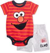 Nannette 2-Pc. Striped Elmo Bodysuit & Shorts Set, Baby Boys (0-24 months)