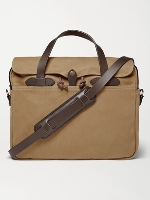 Filson Original Leather-Trimmed Twill Briefcase - Men - Brown