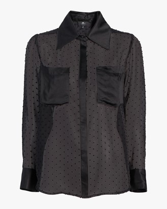 7 For All Mankind Patch-Pocket Collar Shirt