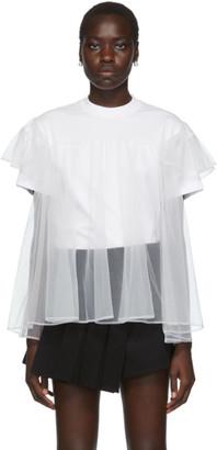 SHUSHU/TONG SSENSE Exclusive White Tulle Overlay T-Shirt