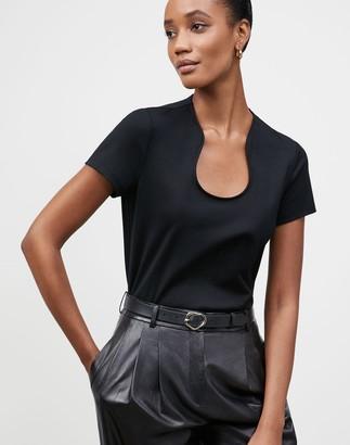 Lafayette 148 New York Plus-Size Eden T-Shirt In Swiss Cotton Rib