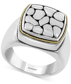 Effy Crackle Statement Ring in Sterling Silver & 18k Gold