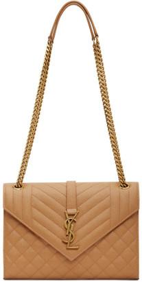 Saint Laurent Tan Medium Envelope Bag