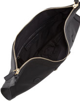 Alexander McQueen De-Manta Leather Clutch Bag, Black