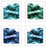 PTM Images Smoking Blues (Framed Giclee) (Set of 4)