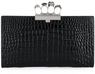Alexander McQueen Jewelled Four-Ring Clutch