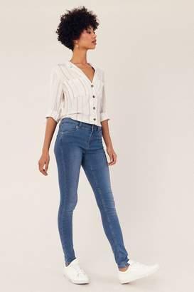 Oasis Womens Blue Jade Skinny Jeans - Blue
