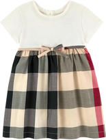 Burberry New Classic Check bi-material all-in-one dress