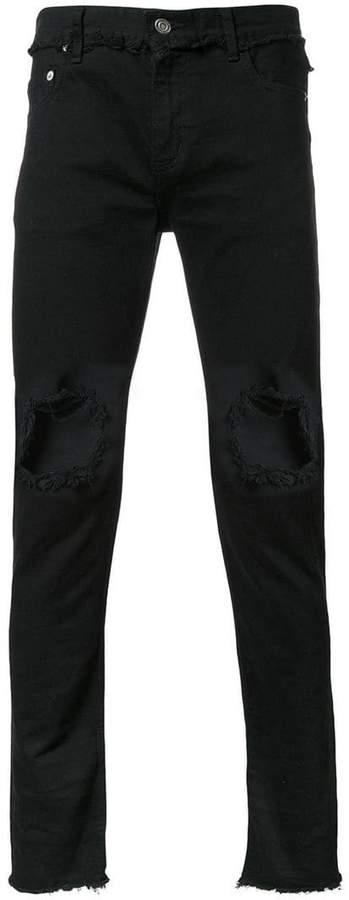Christian Dada ripped skinny jeans