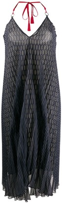 Gianfranco Ferré Pre-Owned 1990's Spotted Print Pleated Dress