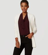 LOFT Back Ribbed Open Cardigan