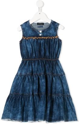 MonnaLisa Tiered Denim Dress