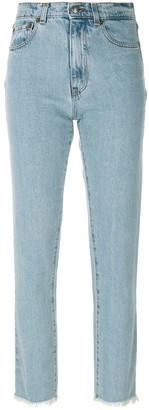Magda Butrym Straight Leg Raw Edge Jeans