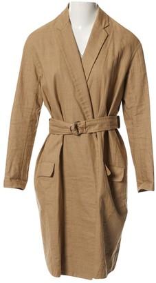 Celine Beige Linen Coat for Women