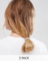 Asos Pack of 2 Metal Bar Hair Elastics