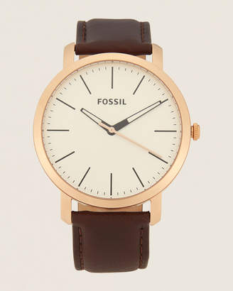 Fossil BQ2371 Luther Brown Leather Watch