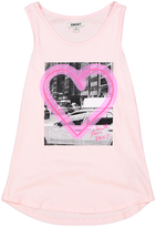 DKNY Almond Blossom Heart Tank - Girls